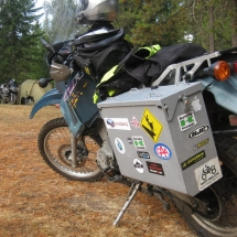 69 I was proud to add the Horizons Unlimited sticker to my pannier and am already thinking about adding to my presentations for next year's event