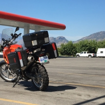 F650GS rests in Osoyoos